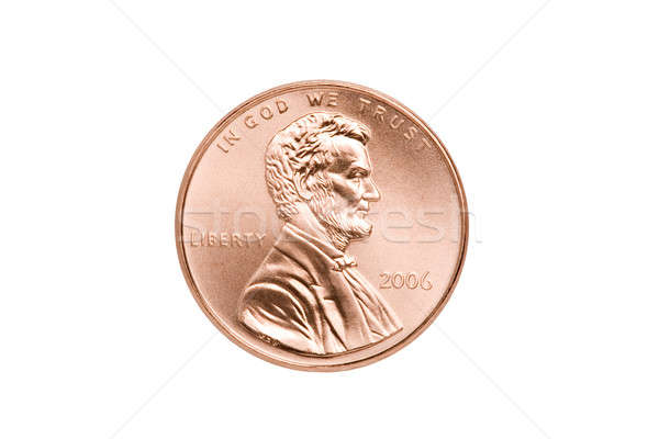 penny isolated closeup Stock photo © alptraum