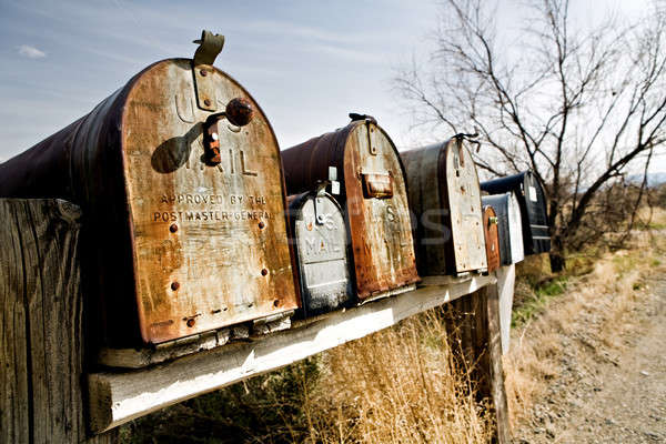 Old mailboxes in Midwest USA Stock photo © alptraum