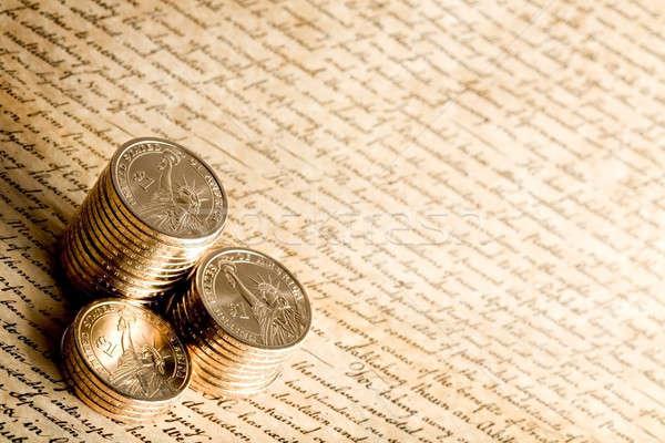US dollar coins Stock photo © alptraum