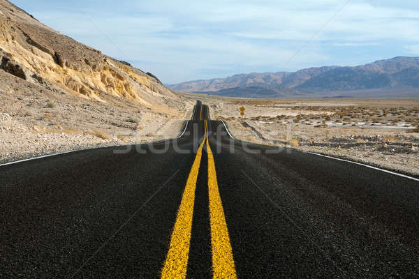 Deserto montagna strada morte valle parco Foto d'archivio © alptraum