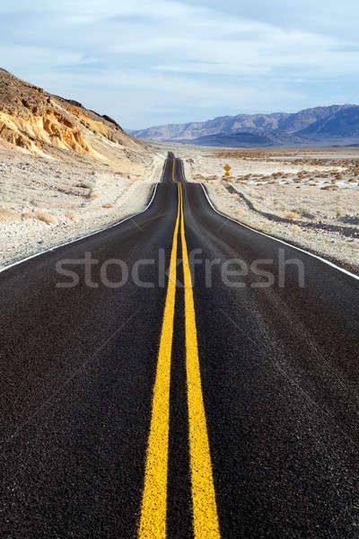 út halál völgy park autópálya Kalifornia Stock fotó © alptraum