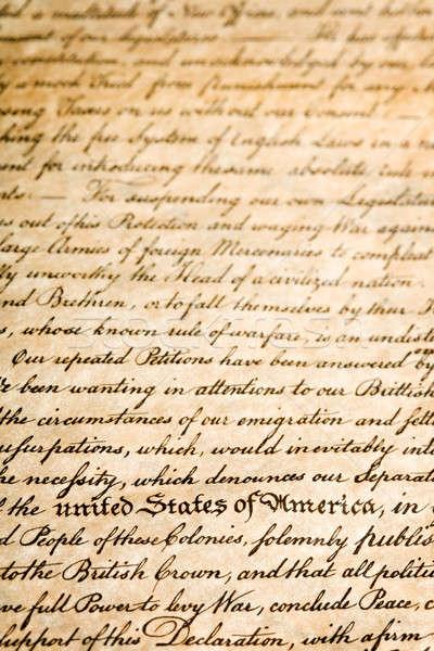 Egyesült Államok Amerika nyilatkozat függőleges sekély mélységélesség Stock fotó © alptraum