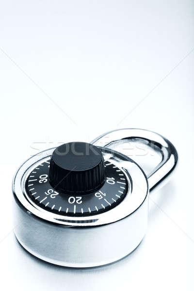 Trancar cadeado segurança seguro proteção Foto stock © alptraum