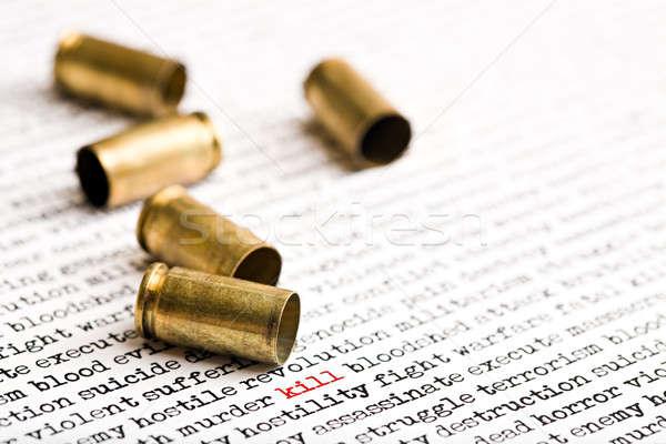 Bullet conchiglie violenza parole morte lotta Foto d'archivio © alptraum