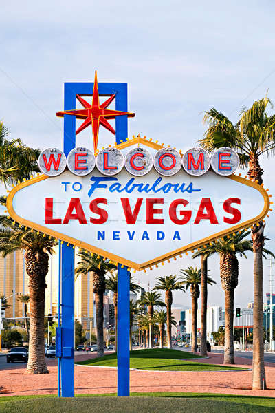 Bienvenue Las Vegas signe Nevada ville Photo stock © alptraum