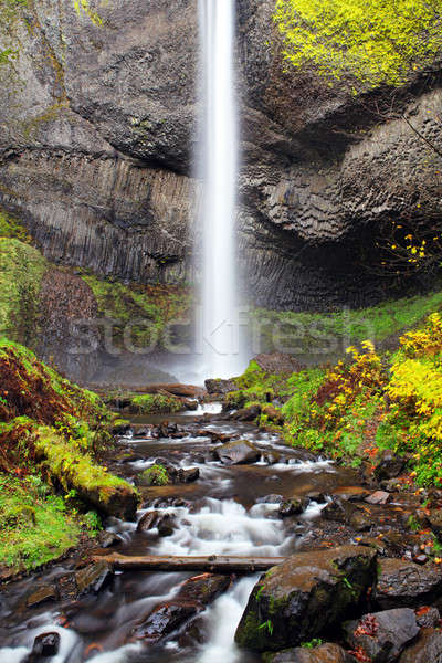 Waterfall in Oregon Autumn Stock photo © alptraum