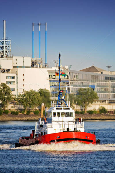 tug boat in port Stock photo © alptraum