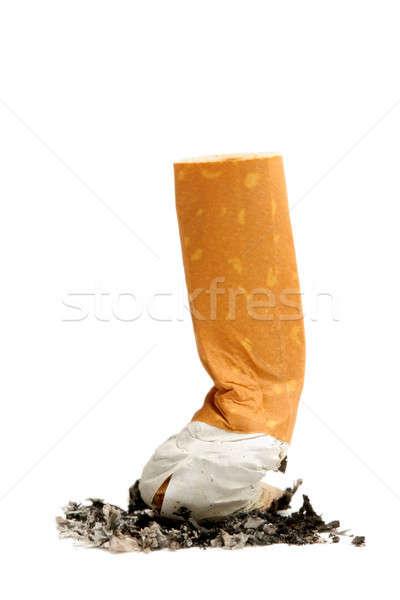 Sigara atış dışarı beyaz odak alt Stok fotoğraf © alptraum