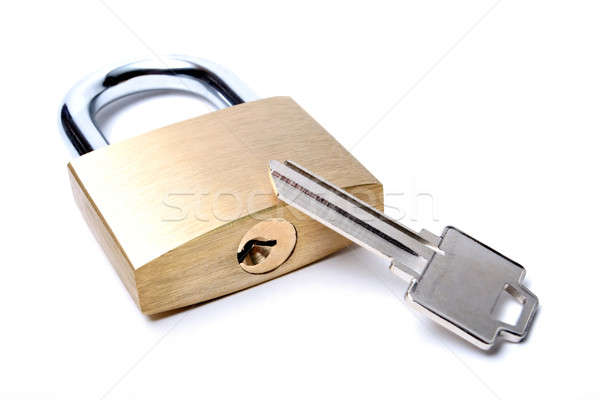 lock with uncut key Stock photo © alptraum