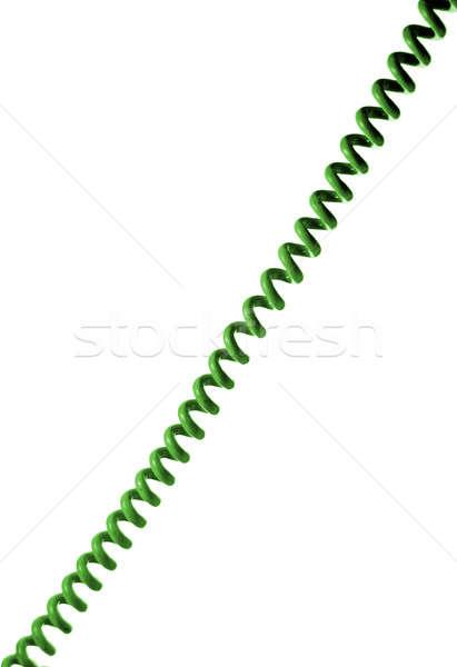 Teléfono alambre edad estilo verde aislado Foto stock © Alsos