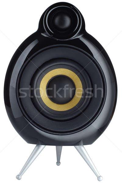 Diseno orador elegante aislado blanco sonido Foto stock © Alsos