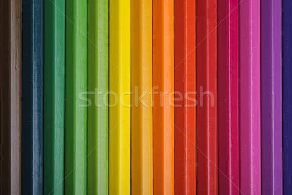Color lápices textura madera ninos Foto stock © Alsos