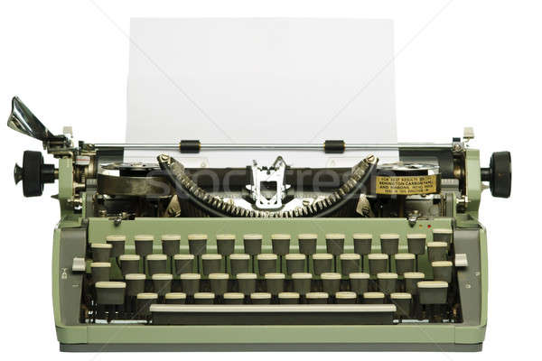 Retro typewriter with blank paper Stock photo © Alsos