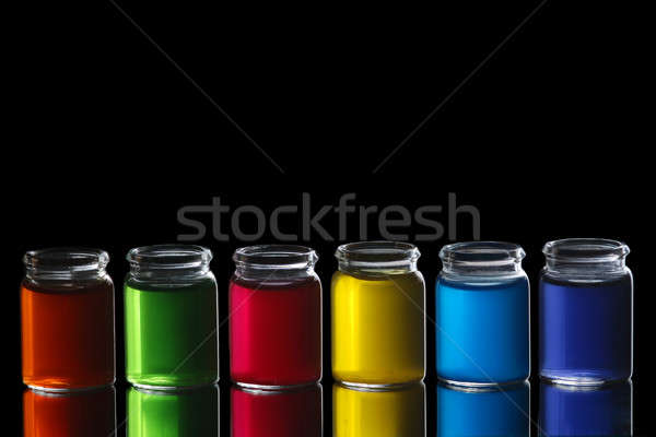 Colorful bottles Stock photo © Alsos