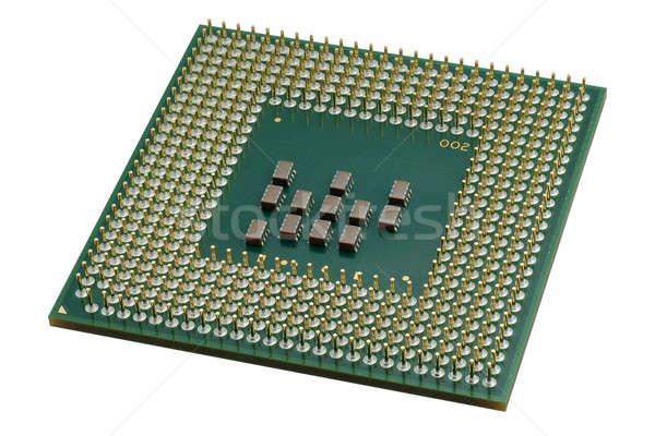 Közelkép processzor processzor izolált fehér nagy Stock fotó © Alsos
