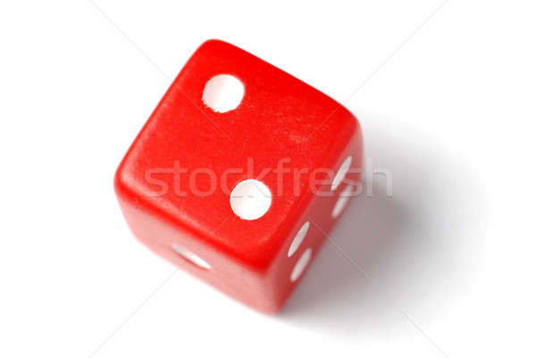 Stock photo: Red Die - Two at top