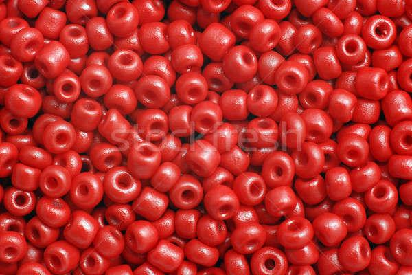 Rojo cuentas grupo plástico textura juguete Foto stock © Alsos