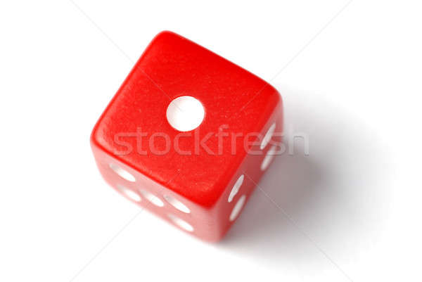 Red Die - One at top Stock photo © Alsos