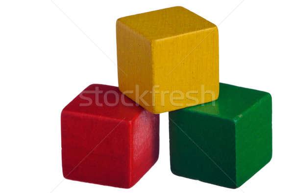 Wooden Building Blocks Stock photo © Alsos