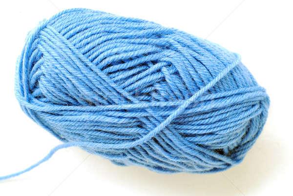 Hilados azul aislado blanco ropa objeto Foto stock © Alsos