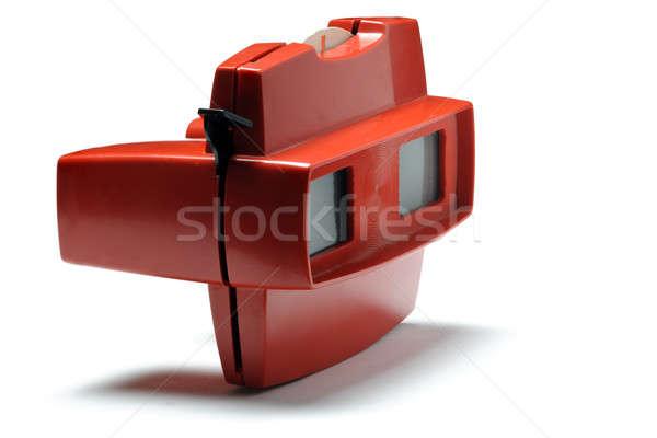 Juguete aislado blanco rojo cartón estéreo Foto stock © Alsos