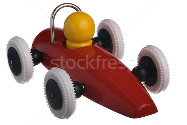 Rouge jouet voiture de course isolé blanche voiture Photo stock © Alsos