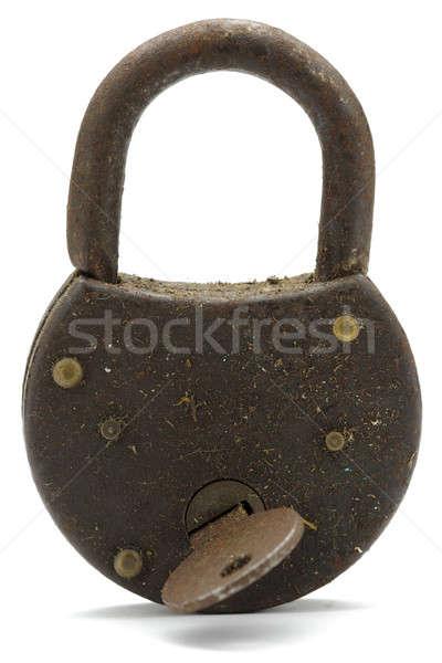 Old padlock Stock photo © Alsos