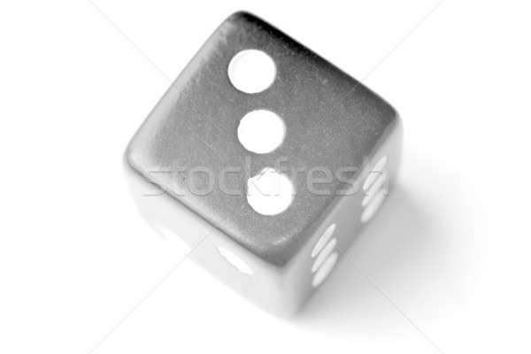 Black Die 3 - Three at top Stock photo © Alsos