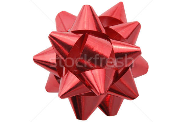 Red gift decoration Stock photo © Alsos