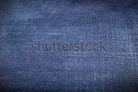 Niebieski denim ciemne tekstury tkaniny ubrania Zdjęcia stock © Alsos