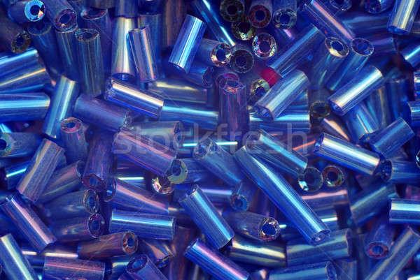 Azul cuentas grupo plástico juguete Foto stock © Alsos