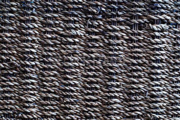 Rústico textura tejido patrón estructura paja Foto stock © Alsos