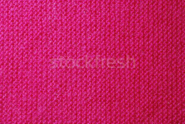 Kötött anyag rózsaszín textúra közelkép háttér Stock fotó © Alsos