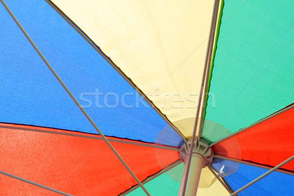 カラフル パラソル クローズアップ 抽象的な 夏 赤 ストックフォト © Alsos