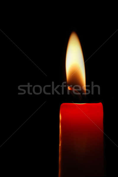 Red candle Stock photo © Alsos