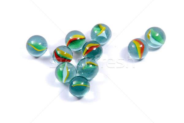 Marmi isolato bianco giocattolo giocare colori Foto d'archivio © Alsos