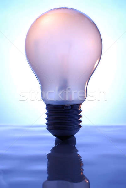 Bombilla azul superficie luz vidrio Foto stock © Alsos