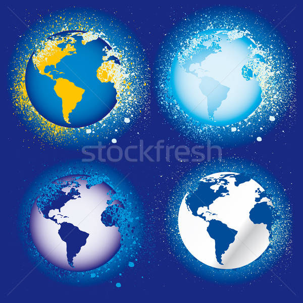 collection of earth globes icons, illustration. Vector format Stock photo © alvaroc