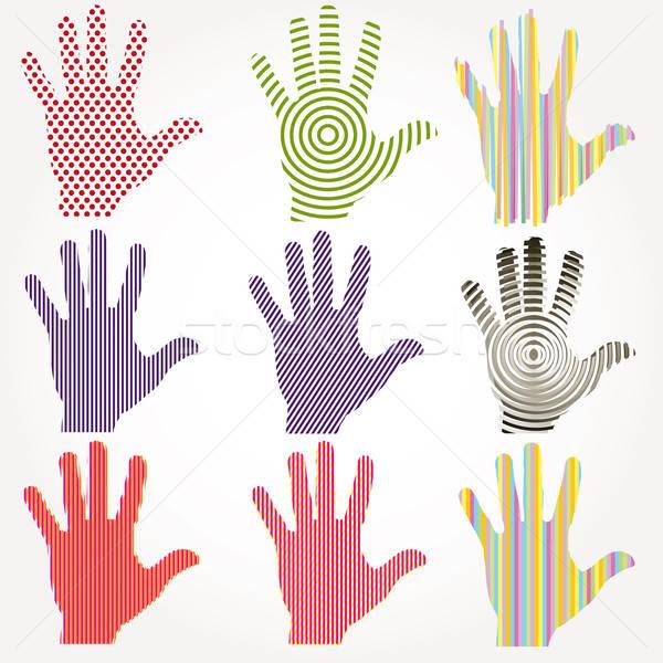 Absztrakt kezek vektor munka test pálma Stock fotó © alvaroc