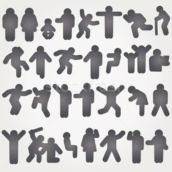ベクトル ピクトグラム 男性 女性 にログイン 脚 ストックフォト © alvaroc