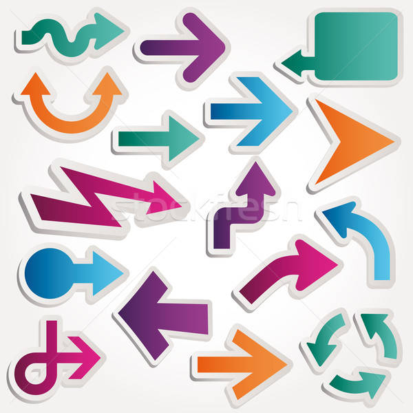 Arrows. Abstract design elements. Vector illustration. Stock photo © alvaroc