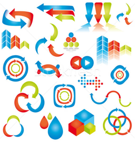 Abstract design elements. Vector illustration. Stock photo © alvaroc