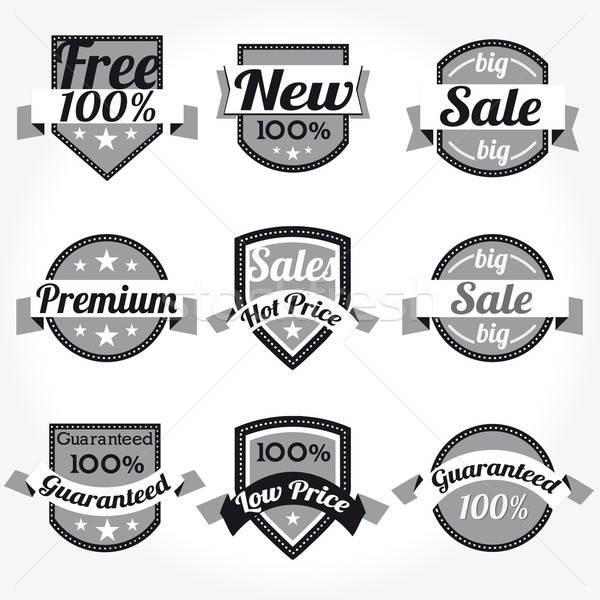 Eladó új prémium minőség címkék vektor Stock fotó © alvaroc