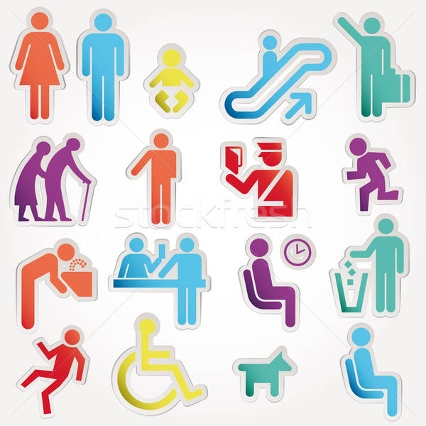 Vector illustration schematic Icons Sign Symbol Pictogram Stock photo © alvaroc