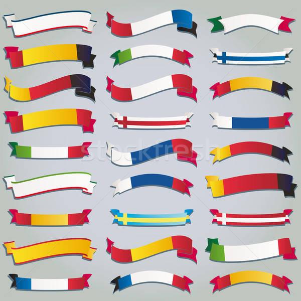 Európa vektor zászló Euro szalag közösség Stock fotó © alvaroc