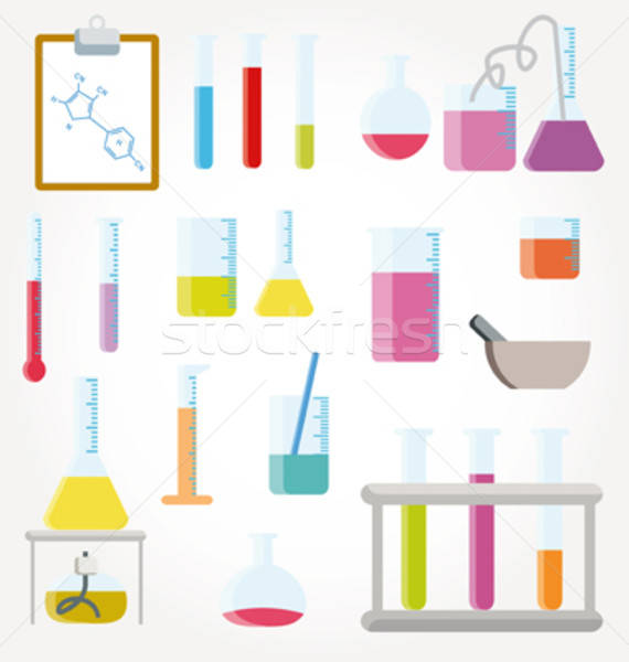 Chemical test tubes icons illustration vector Stock photo © alvaroc