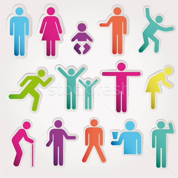 Vector Pictograms of Men and Women Stock photo © alvaroc