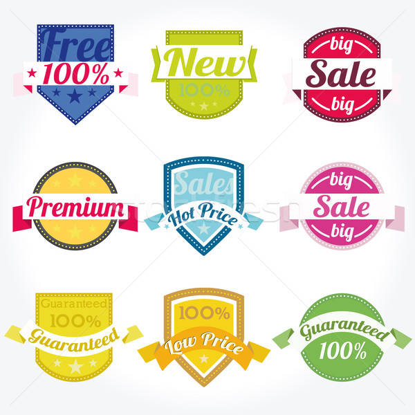 Sales New Premium Quality Labels vector set Stock photo © alvaroc