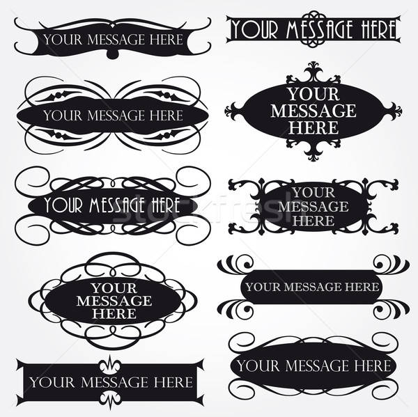 Vector Frame Set ornamental vintage decoration Stock photo © alvaroc