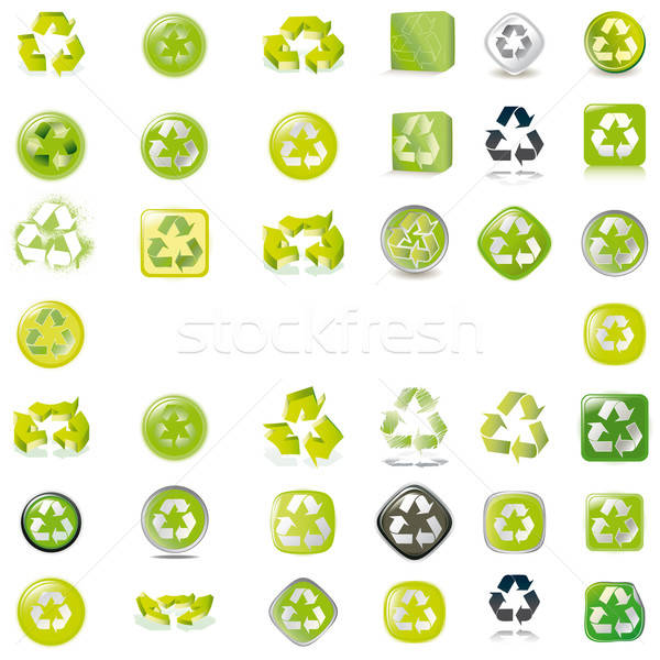 38 recycle icons vector symbols Stock photo © alvaroc